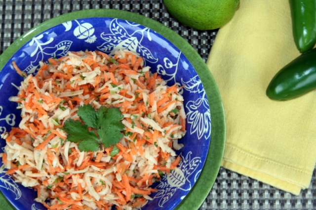 Carrot Jicama Slaw with Chipotle Lime Dressing 2015