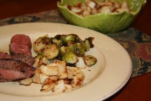 Steak, Brussies, Turnips 2013
