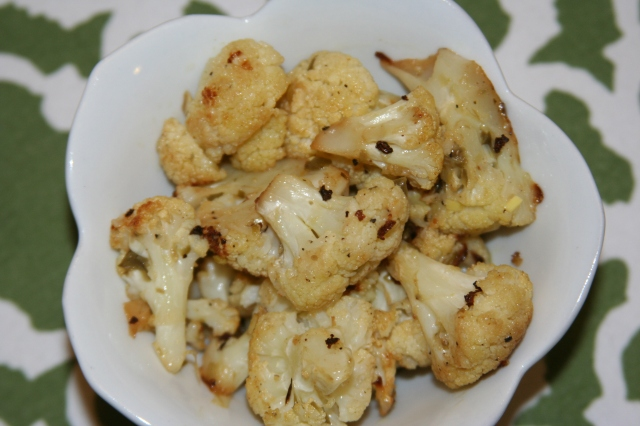 Roasted Cauliflower with Lemon-Caper Dressing 2013