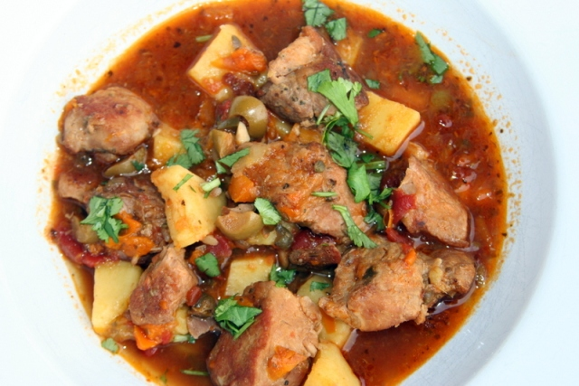 Puerto Rican Pork and Potato Stew