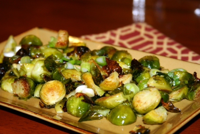 Sesame Roasted Brussels Sprouts