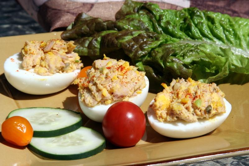 Tuna-Stuffed Eggs