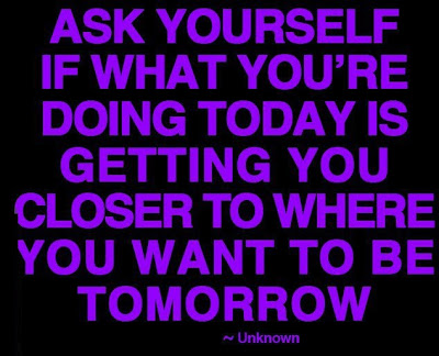 Ask yourself if what you are doing now