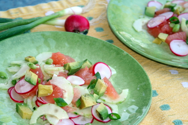 Cucumber-Grapefruit Salad 2014