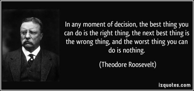 Teddy Roosevelt quote
