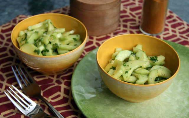 Curried Cucumber Salad 2014