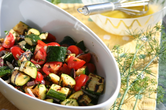 Grilled Zucchini Salad with Lemon Thyme 2014