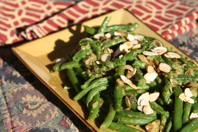 Green Beans in a Turmeric Cream Sauce 2014