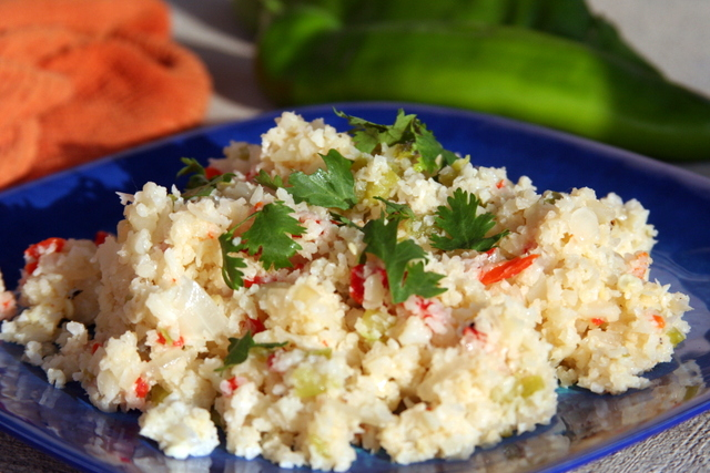 Roasted Chile Cauliflower Rice 2014