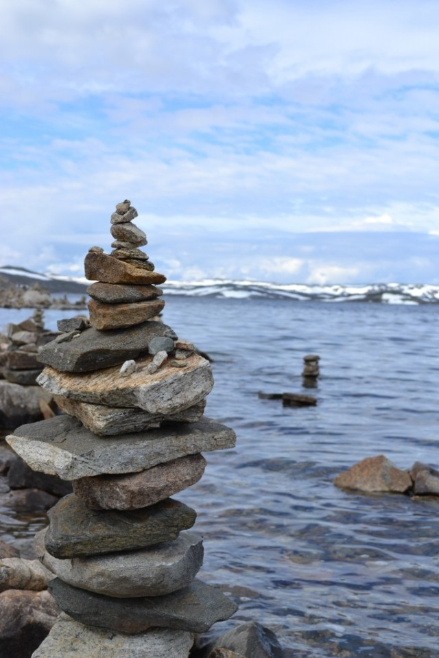 Sonja's stacked stones in Norway