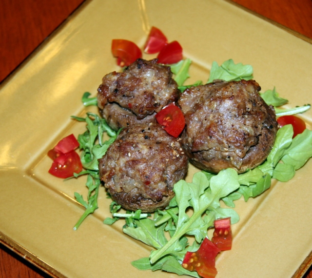 Italian Sausage Stuffed Mushrooms cropped 2016-001
